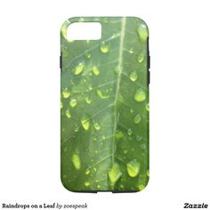 Raindrops on a Leaf iPhone 7 Case - 15% off with code EASTERBEST17 from ZoeSPEAK