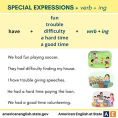Phrases: Special Expressions + verb + ing