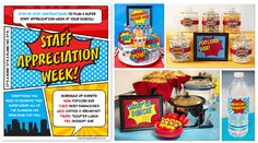 Superhero Teacher Appreciation - Detailed instructions to duplicate this event at your school.