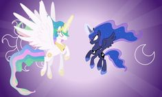Celestia and Luna Attacking (Full) (Coloured) by =90Sigma on deviantART