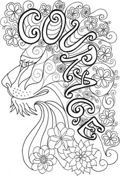 Inspirational Lion Coloring Page – Coloring Books Inspiration free Lion Coloring Pages, Abstract Coloring Pages, Spring Coloring Pages, Quote Coloring Pages, Coloring Pages Inspirational, Printable Adult Coloring Pages, Flower Coloring Pages, Mandala Coloring Pages, Christmas Coloring Pages