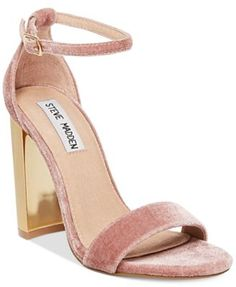Understated yet exceptional, Steve Madden's Carrson sandals pair a delicate ankle strap and fine styling for a look that gets you noticed. | Suede upper; manmade sole | Imported | Round peep-toe ankle