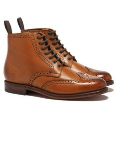 Sharp Derby Boot - Tan