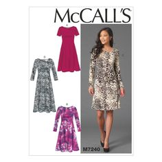 McCall's Misses' Dresses - Size: ZZ (LRG-XLG-XXL) - Pattern: M7240