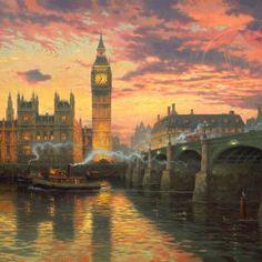 """Thomas Kinkade ~ """"London""""                                                       …"""