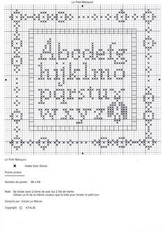 Cross Stitch Heart, Cross Stitch Alphabet, Cross Stitch Samplers, Counted Cross Stitch Patterns, Cross Stitch Designs, Cross Stitching, Stitching Patterns, Cross Stitch Freebies, Le Point