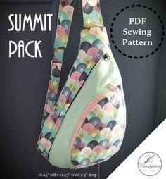 ***Listing is for PDF digital sewing pattern ONLY, and NOT A FINISHED BAG!!*** =====================================================================...