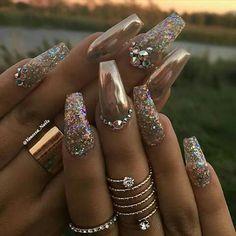 Bling bling nails #rhinestones