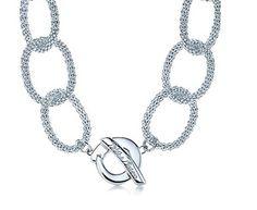 Tiffany & Co Necklaces Transparent Diamond Chain Circle Butto Tiffany And Co Bracelet, Tiffany Necklace, Tiffany Jewelry, Pandora Jewelry, Jewelry Necklaces, Jewellery, Pearl Jewelry, Tiffany And Co Outlet, Smart Bracelet