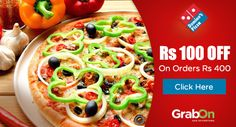 Dominos Friday Offer: Get Rs 100 OFF on a minimum order of Rs 400. Grab and Get home delicious pizza Now! Hurry Up!  #AhaValue #DominosCoupons #FridayOffers #GrabOn