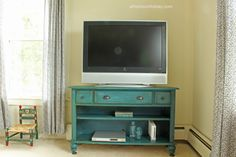 Console Table Upcycled into a TV Stand