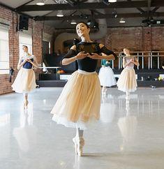 Photo of West Australian Ballet Principal Dancer Chihiro Nomura in rehearsals for La Sylphide, taken by Sergey Pevnev.
