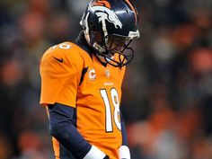 Denver QB Peyton Manning at the AFC divisional playoff game against Baltimore. Awesome Quarterback