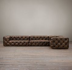 Soho Tufted Leather Customizable Sectional | Restoration Hardware