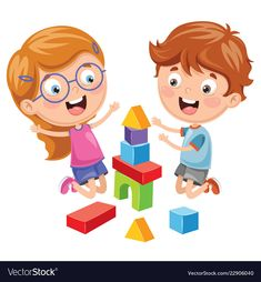 Find Vector Illustration Kid Playing Building Blocks stock images in HD and millions of other royalty-free stock photos, illustrations and vectors in the Shutterstock collection. Thousands of new, high-quality pictures added every day. Cartoon Pics, Cute Cartoon, Kindergarten, Classroom Rules, Kids Behavior, Kids Education, Kids Cards, Preschool Activities, Diy For Kids