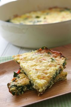 Kale Frittata - 6 servings at 5PTS each. This is delicious; I wish I would've tried kale sooner! For Weight Watchers, use 6 eggs, fat free milk, only 1tbsp of olive oil, 1/2 cup of grated parmesan, & 1/2 cup of reduced fat feta cheese.