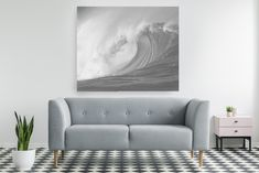 Smart Art Cool Grey Gray Calming Beautiful Landscape Wallpaper Wall Mural Ocean Mist Misty Forest Beach Relaxing Interior Ideas Design (3)