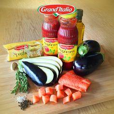 Wat maak jij met Spaghetti, aubergine en zalm? Deel ook jouw #pastacreatie