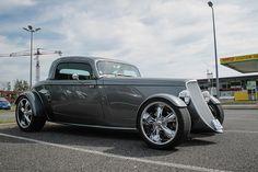Grey Hot Rod Ford