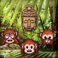 """Sagesse sous les tropiques . Participation au défi organisé par @lili_azalee ,@coeur_citron et @perlesandco. #dontbeadalone #perlesandco Catégorie """" imaginative"""""""