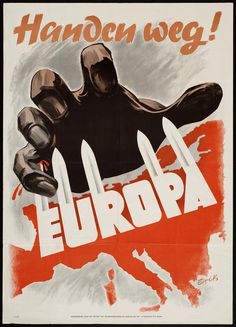"Dutch  WW2  ""Hands away from Europe"""