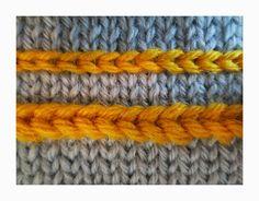 TECHknitting: Slip stitch surface decoration: Fake Latvian Braid (Applied color knitting, part Knitting Blogs, Loom Knitting, Knitting Stitches, Knitting Patterns, Crochet Patterns, Braid Patterns, Stitch Patterns, Slip Stitch Crochet, Yarn Twist