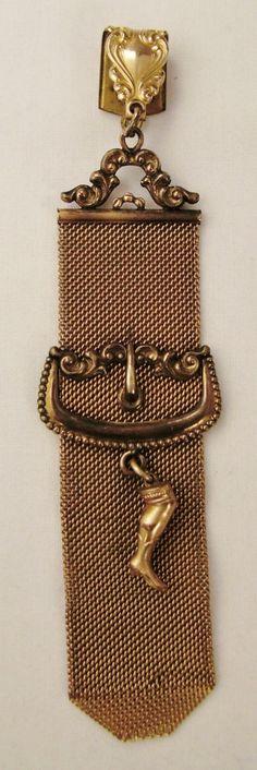 Victorian Watch FOB GARTER WATCH Chain charm by vintagevasso, $89.99etsy