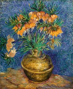 Fritillaries in a Copper Vase by Vincent van Gogh - Art Print - Museum Quality in Art, Prints   eBay