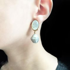 Philippe Ferrandis Miss Camélia Fl Pearl Drop Clip On Earrings Alexandra May Jewellery Pinterest