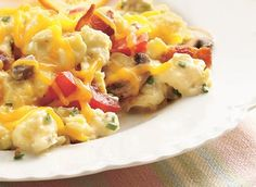Breakfast in the crockpot! Let it cook overnight. So easy and saves you  time in the morning!