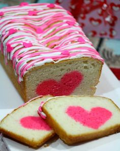 VANILLA STRAWBERRY LOAF HEART CAKE | World Recipes Collection