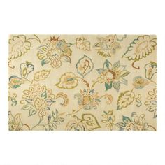 One of my favorite discoveries at ChristmasTreeShops.com: 5'x7.5' Beige Floral Wool Area Rug