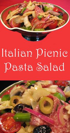 This Picnic Pasta Salad keeps well and is great to have on hand in the fridge