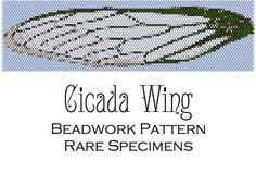 Cicada Wing Peyote Stitch Beadwork Pattern  Cuff by RareSpecimens