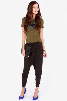 cropped -  cool -  #slouch Yoga Harem Pants, Harem Trousers, Stylish, Fashion, Moda, Harem Jeans, Fashion Styles, Fasion, Harem Pants