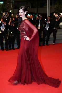Cannes Film Festival. Eva Green in Elie Saab couture