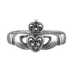 Ladies Marcasite Claddagh