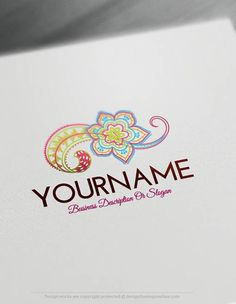 Create Flower Logo Templates With our free logo maker. ReadymadeOnline Flower Logo Templates decorated with flowers art paintings icon. Flower logos great for branding Interior designer, home decor or vintage store, cosmetics and toiletries, gift and flower shop,spa, Nail salon, makeup artist.How to make a free logo onlinewithourlogo generator and text creator?1- Customizethis logo design with