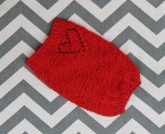 XXS Dog/Puppy/Cat/Kitten Sweater 2 to 3 Lbs Red by ChillyPups