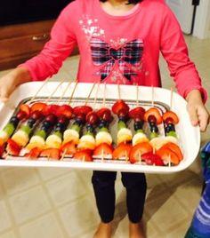 Fun and Healthy Rainbow Fruit Skewers
