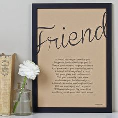 friendship poem print vintage style by bespoke verse   notonthehighstreet.com
