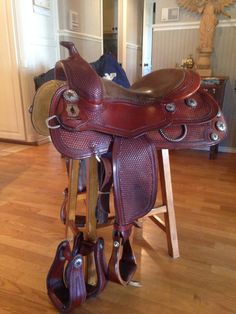 Continental Saddlery Penni Gerardi Reining Saddle With Don Orrell Stirrups #ContinentalSaddlery
