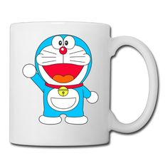 Ceramic Cups Robotic Cat Doraemon Famouse Character Printing Coffee Mugs -- See this awesome image  : Cat mug