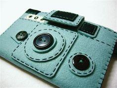 Camera Camera Case HOLGY no3 blue by hine on Etsy