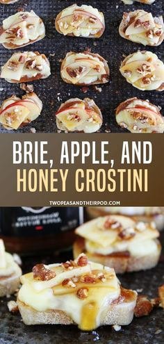 Learn how to make the best crostini recipe made with brie, apple, and honey! They are so easy and perfect for a crowd. This quick to prepare appetizer takes on fifteen minutes to make and everyone loves it! This will surely be the star of any party! Quick Appetizers, Easy Appetizer Recipes, Easy Dinner Party Recipes, Dinner Party Appetizers, Best Crostini Recipe, Fingerfood Recipes, Brie Bites, Food Porn, Brie