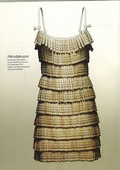 This dress is made from clothespins.  I don't think it would be very comfortable to sit down