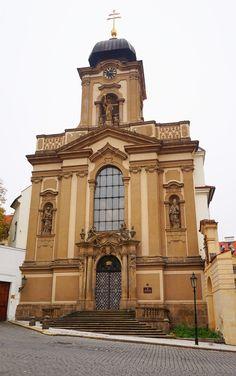 Military chgurch of St.John Nepomuk, Nový Svět at Hradčany district, Prague, Czechia