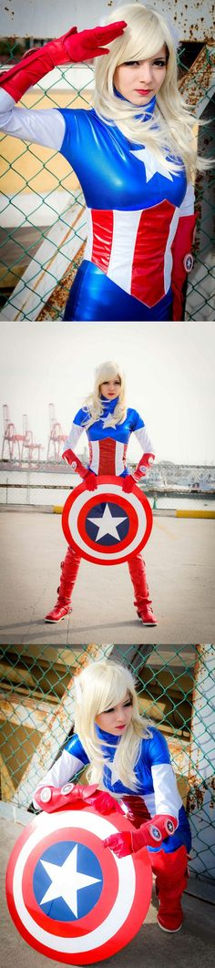 I didn't know American Dream was a real Marvel character | http://karenkasumimatsumoto.deviantart.com/gallery/42654709