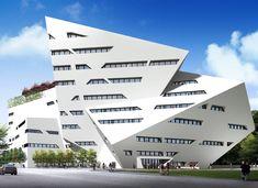 The Run Shaw Creative Media Centre, Hong Kong, China, Studio Daniel Libeskind Define Architecture, Architecture Design, Futuristic Architecture, Sustainable Architecture, Contemporary Architecture, Amazing Architecture, Sustainable Design, Sketchbook Architecture, Innovative Architecture