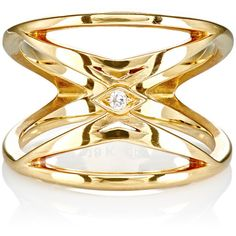 Deborah Pagani Women's City Ring (€2.170) ❤ liked on Polyvore featuring jewelry, rings, no color, cut out jewelry, deborah pagani jewelry, cutout ring, 18k jewelry and band jewelry